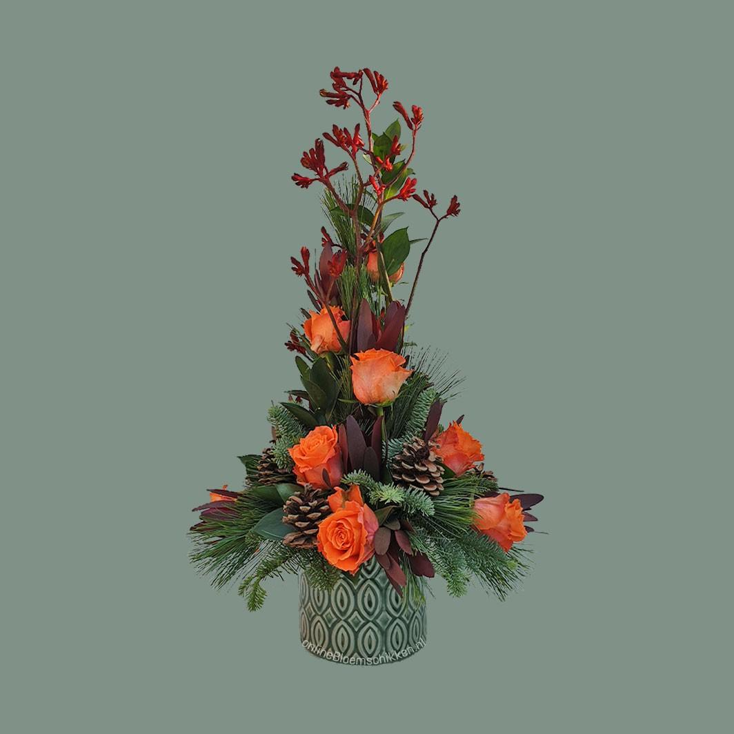 IB-099 | Mille-fleurs - met kerstmaterialen