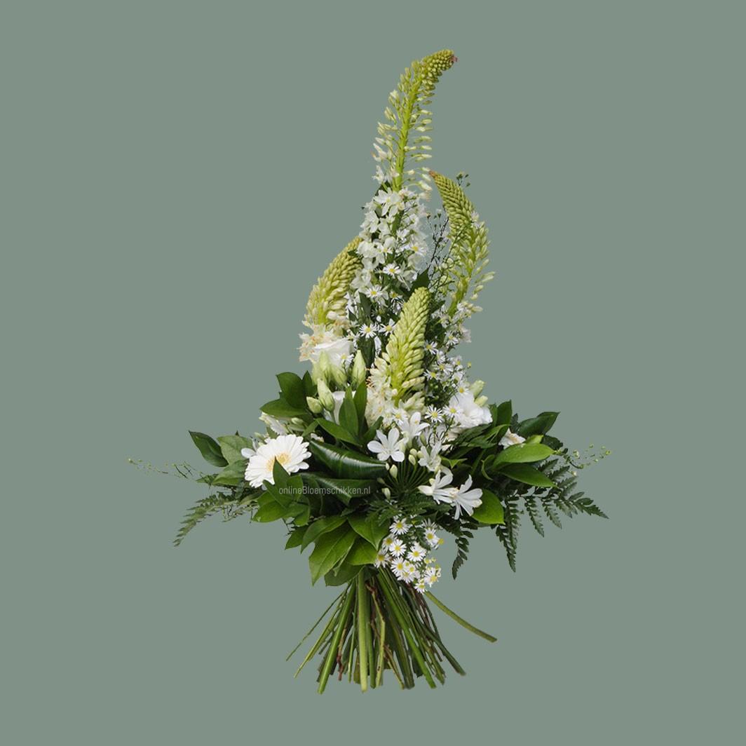 VO-041   Handgebonden Mille-fleurs boeket
