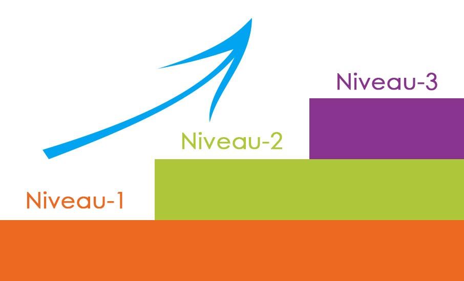 Drie niveau's bij onlineBloemschikken.nl